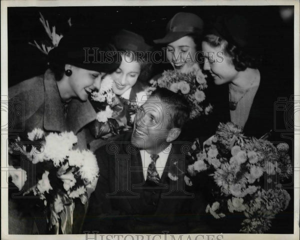 1936 Press Photo Dizzy Dean, Jane Piper, V. Loughnot, G. Myers, Sarah J. Herden - Historic Images