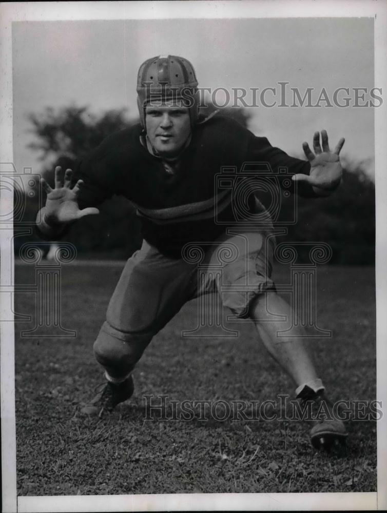 1938 Press Photo US Military Academy Football Squad Tackle James E. Mather - Historic Images