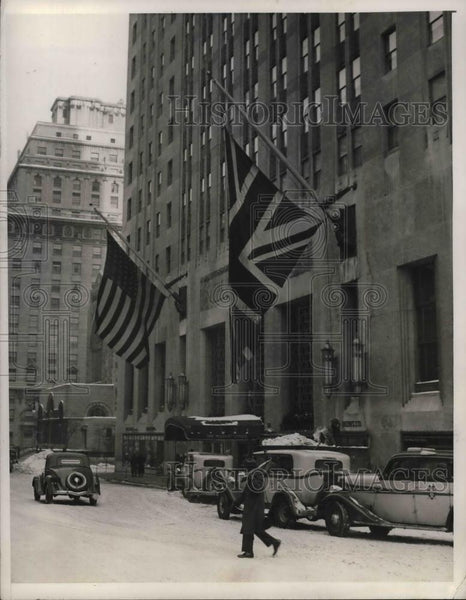 1936 Press Photo Exterior of Waldorf Astoria Hotel in NYC - nea25557 - Historic Images