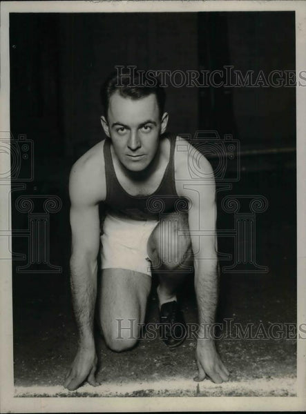 1929 Press Photo Track star Heruauseu at a meet - nea29459 - Historic Images
