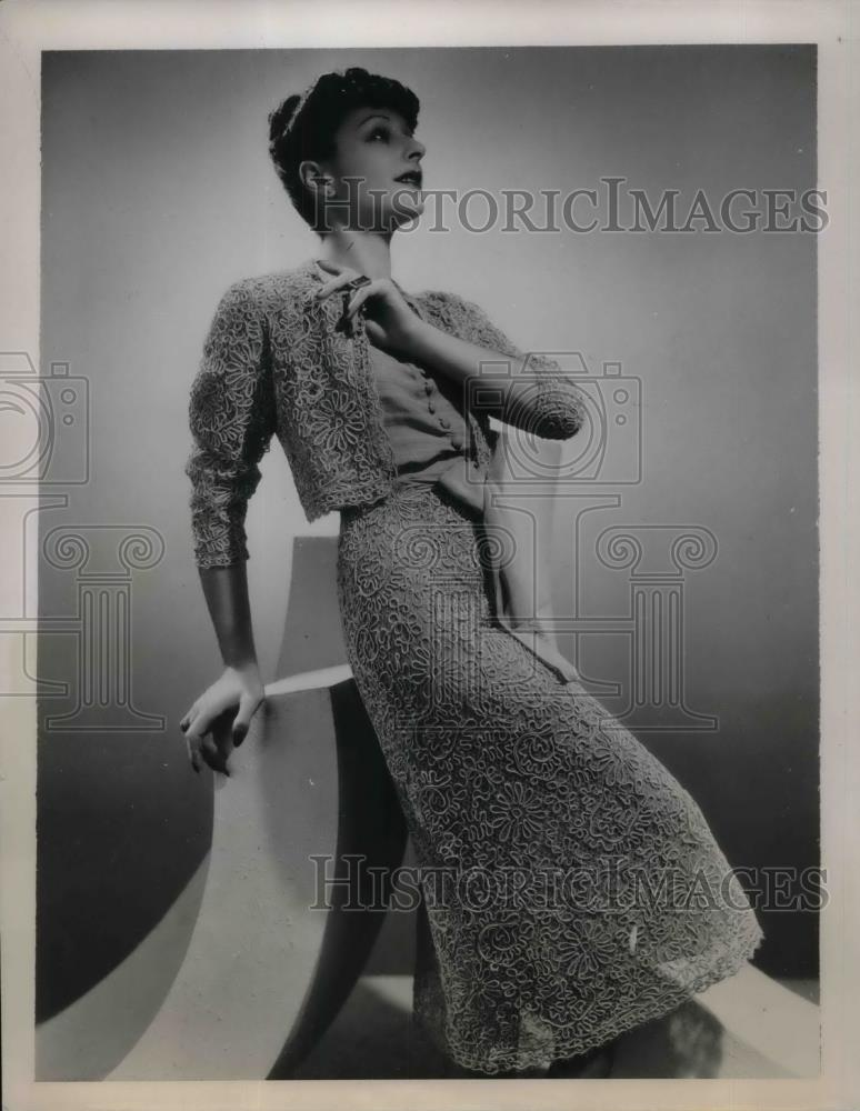 1939 Press Photo An afternoon Bolero outfit for spring & summer - nea28967 - Historic Images
