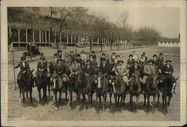 1924 Press Photo Ft Myer Olympic riders, George,Kyle,Wheeler,Dent,Griffin, - Historic Images