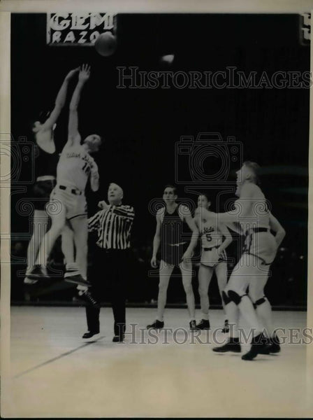 1936 Press Photo Ed Wade of Utah State, Jerry Newton of Wilmerding YMCA - Historic Images