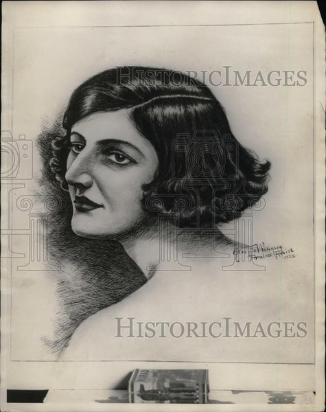 1923 Press Photo Painting Of Lois Wilkinson By Artist Georgia Wilkinson - Historic Images