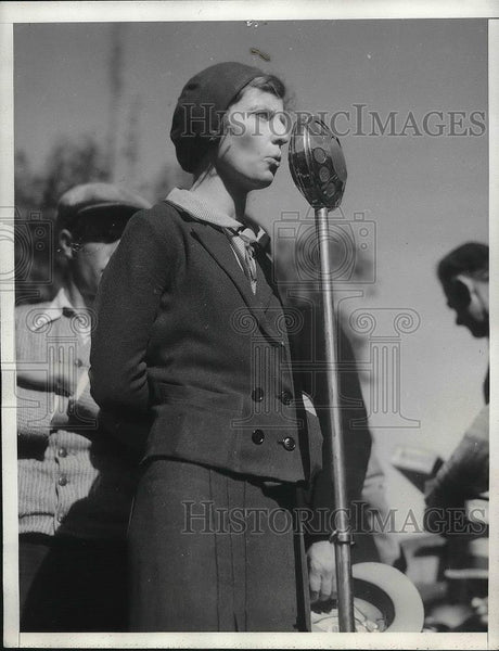 1935 Press Photo Mrs.Leroy Purdy,Unemployed League Leader talk to LA Workers. - Historic Images