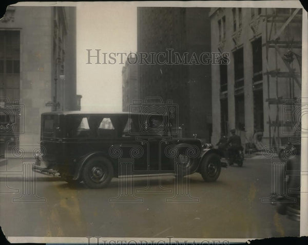 1923 Press Photo Hearse at funeral of Merry Merrill in NYC - nea34983 - Historic Images