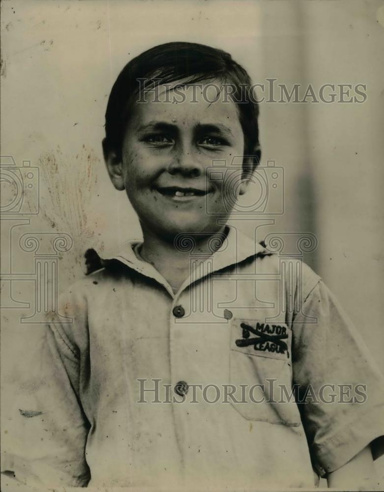 1924 Press Photo Boy, Sidney Lames, Raised By Colored Mammy, Aunt Minai - Historic Images
