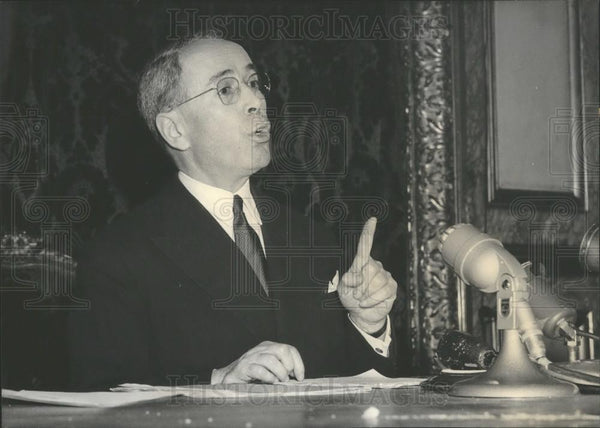 1958 Press Photo French Minister of Finance ,M. Antoine Pinay - Historic Images