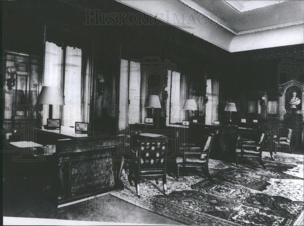 Press Photo Rothschild home interior - Historic Images