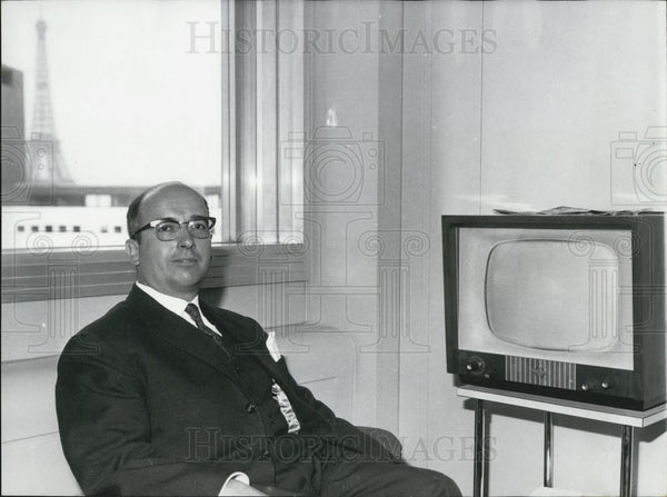 1926 Press Photo Mr. Pierre de Boisdeffre ,head of the French Radio-Television - Historic Images