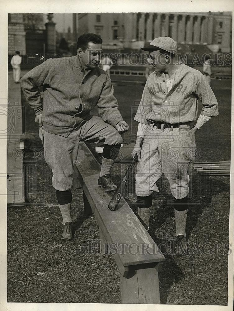 1930 Press Photo Coach Andy Coakley & Captain Jimmy Morrison, Columbia Univesity - Historic Images