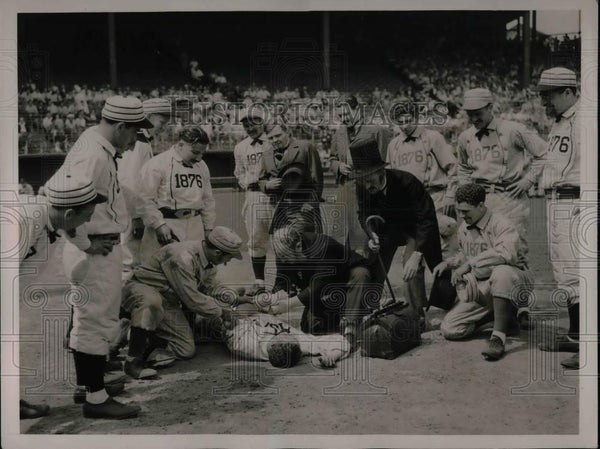 1936 Press Photo National League Marks 60th Anniversary At Polo Grounds - Historic Images