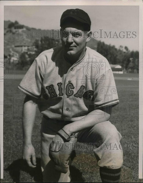 1936 Press Photo Woody English At Spring Training For Chicago Cubs - nea46512 - Historic Images
