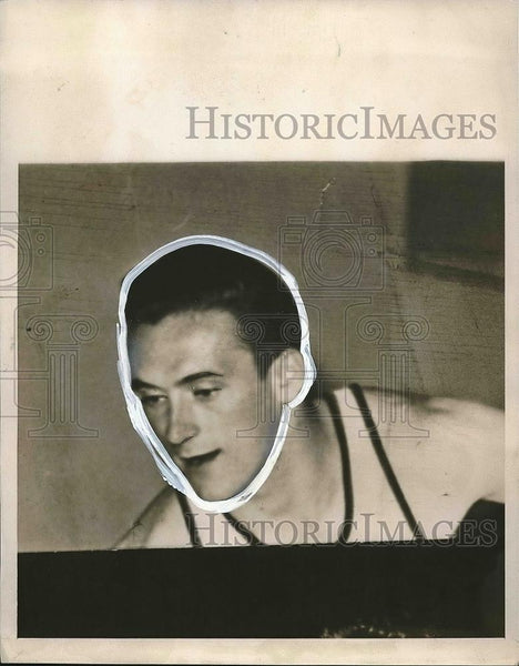 1940 Press Photo University basketball player Bill Hapac - nea55114 - Historic Images