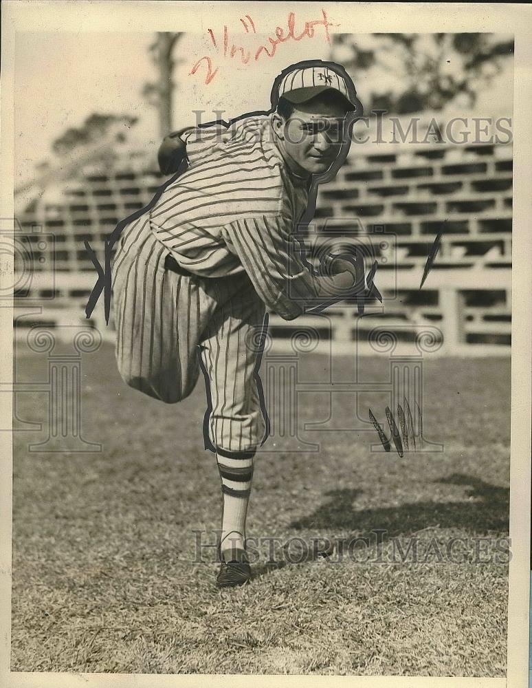 1927 Press Photo W.H. Clarkson Pitcher New York Giants Spring Training Camp MLB - Historic Images