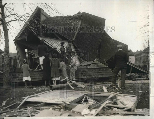 1932 Press Photo John Corso Home Destroyed By Bomb In Miner's War - nea55727 - Historic Images