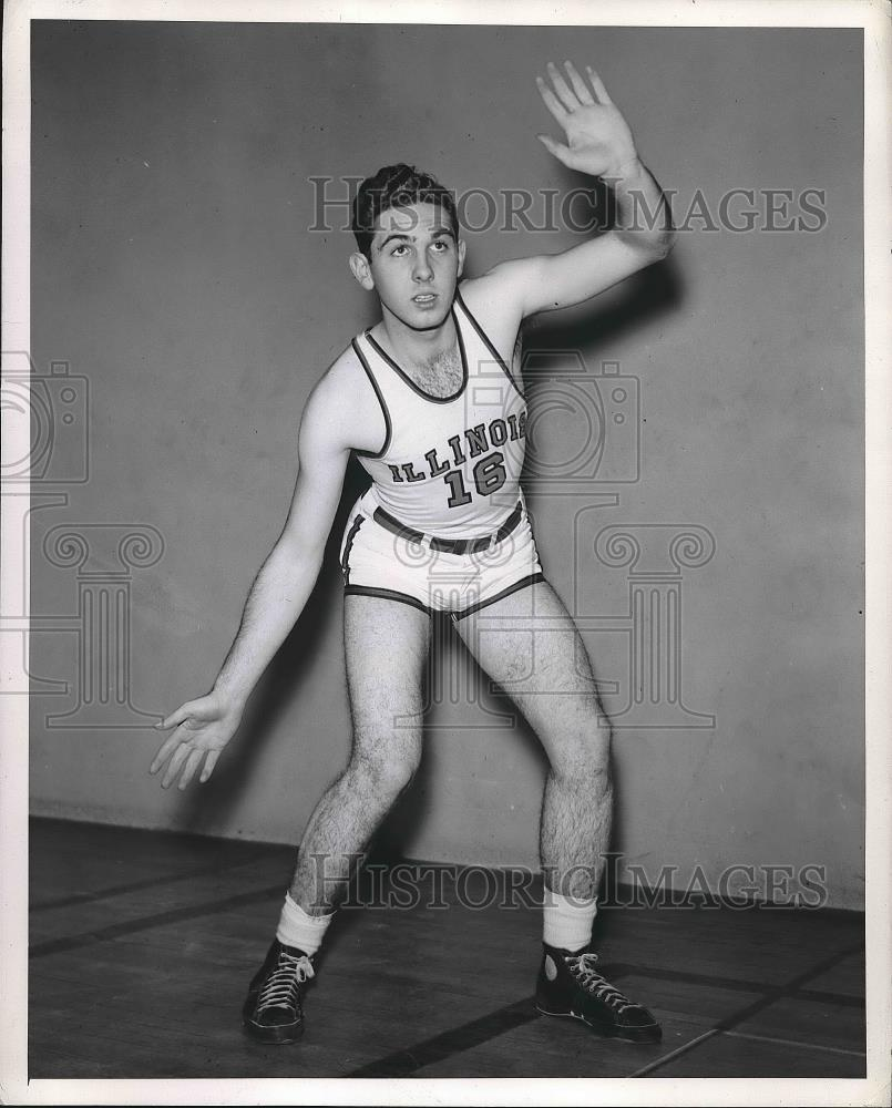 1940 Press Photo William Hocking, University of Illinois basketball player - Historic Images
