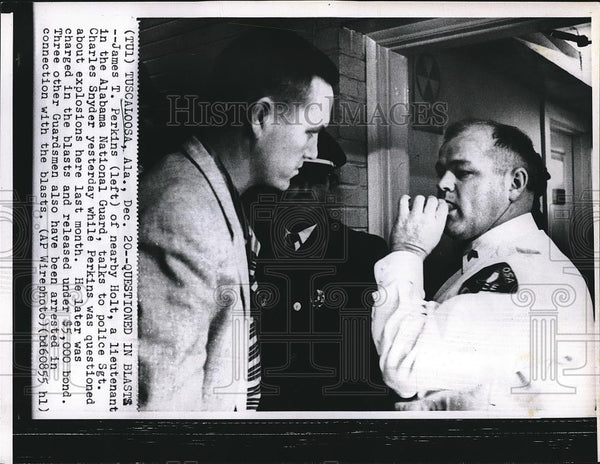 Press Photo James T. Perkins, Alabama National Guard, Police Sgt. Charles Snyder - Historic Images