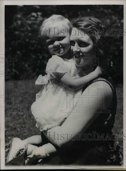 1932 Press Photo Mrs. Jack Durand, Daughter Patricia, Alleged Kidnappers Caught - Historic Images