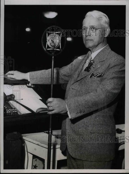 1935 Press Photo A. F. Whitney at Brotherhood of Railroad Trainmen convention - Historic Images