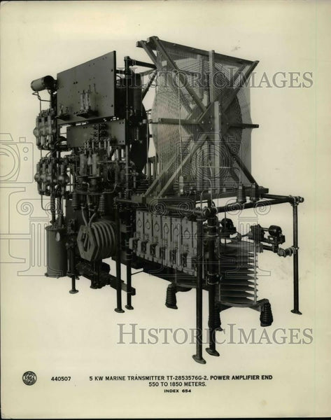 1927 Press Photo A 5 KW Transmitter & power amplifier on exhibit - Historic Images