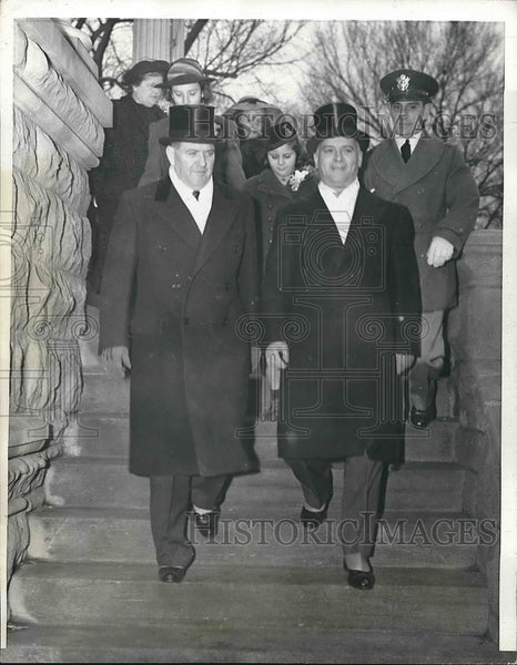 1941 Press Photo Illinois Governor Dwight Green With Former Gov John Stelle - Historic Images