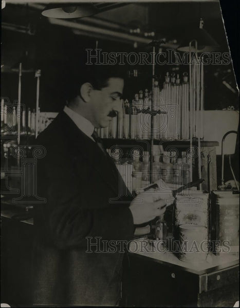 1921 Press Photo Dr. Carl L. Alsberg, Food Research Institute, Leland Stanford - Historic Images