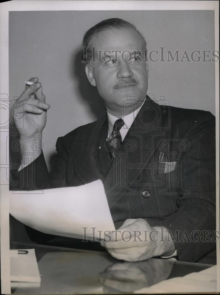 1939 Press Photo Chicago, Ill. Mr Christopher J. Hill at divorce court - Historic Images