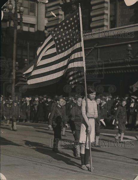 1923 Press Photo Boys March San Francisco Stars Stripes Forever Song - nea78149 - Historic Images