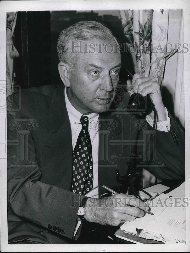 1944 Press Photo Gov.Edward Martin of Pennsylvania in Chicago for conference. - Historic Images