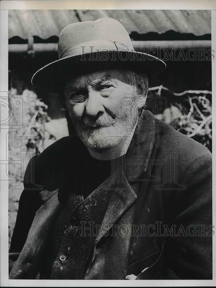 1938 Press Photo The Rev. Matthew Gold, England's oldest minister - Historic Images