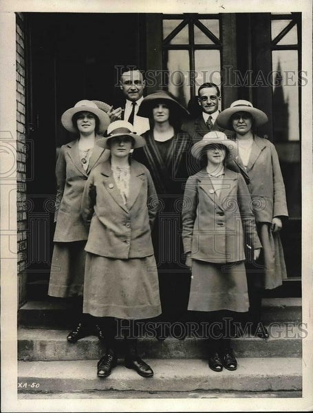 1923 Press Photo SW Murray, J Moore, I Townsend, M White, E Absolon,scholarships - Historic Images