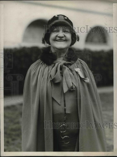 1929 Press Photo Mrs Margaret Campbell Goodman, deep sea salvage diver - Historic Images