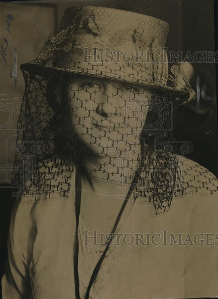 1921 Press Photo The Harding Veil. - Historic Images