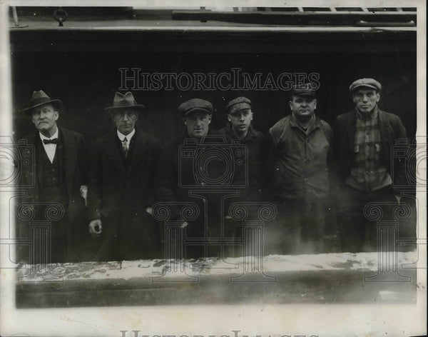 1926 Press Photo Heroes of Hudson River Disaster, Capt. Timmons, Mulhearn, Bobat - Historic Images
