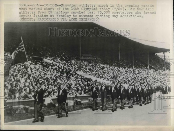 1948 Press Photo Opening Ceremony of 14th Olympiad - Historic Images
