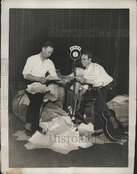1931 Press Photo Harold Corderman, Charles Gamble, KSTP - Historic Images
