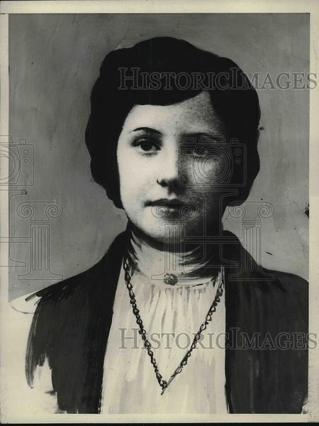 1925 Press Photo New York Girl Calmed frantic Passengers of steamer May Bullen - Historic Images