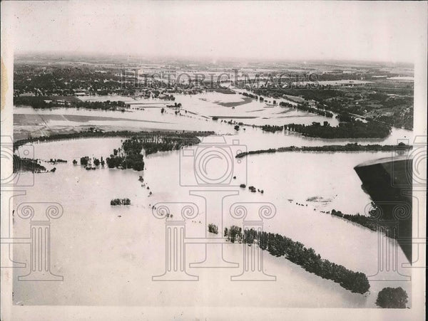 1935 Press Photo Kansas City Area Suffers Flooding - nea99918 - Historic Images
