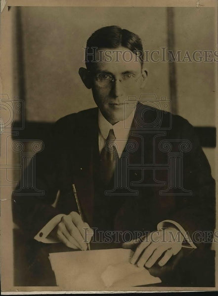 1918 Press Photo J.D.A. Morrow, Sec. of the National Coal Association. - Historic Images