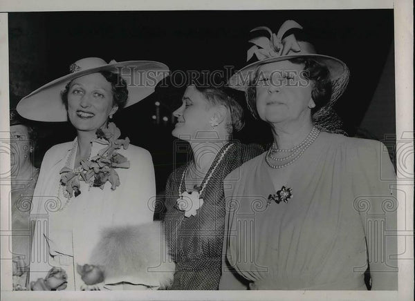 1939 Press Photo Crown Princess Martha Ruby Black Mrs Cordell Hull At Luncheon - Historic Images