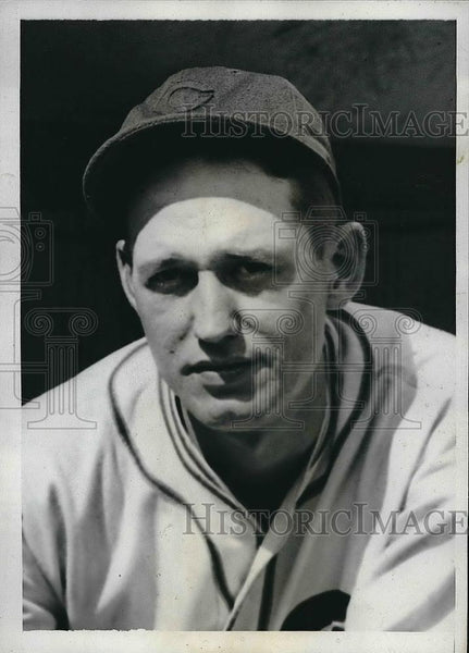 1935 Press Photo Johnny Gill Outfielder Chicago Cubs MLB Baseball Player Team - Historic Images