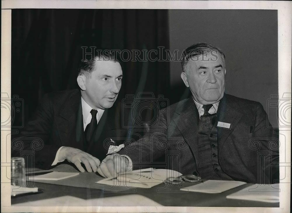 1939 Press Photo James Stalhman President Newspaper Publisher Association - Historic Images