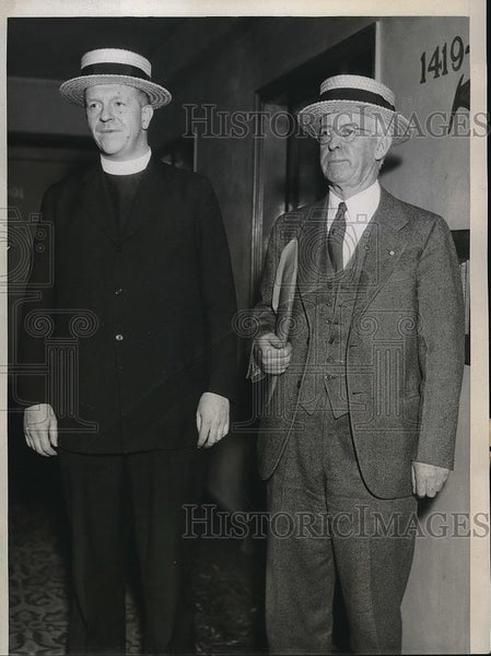 1934 Press Photo National Labor Board Members in Strike Negotiations Milwaukee - Historic Images