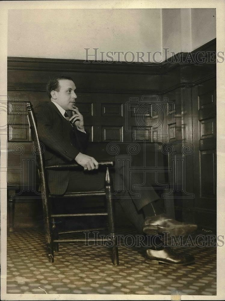 1923 Press Photo Maul Kinzie Special Investigator - Historic Images