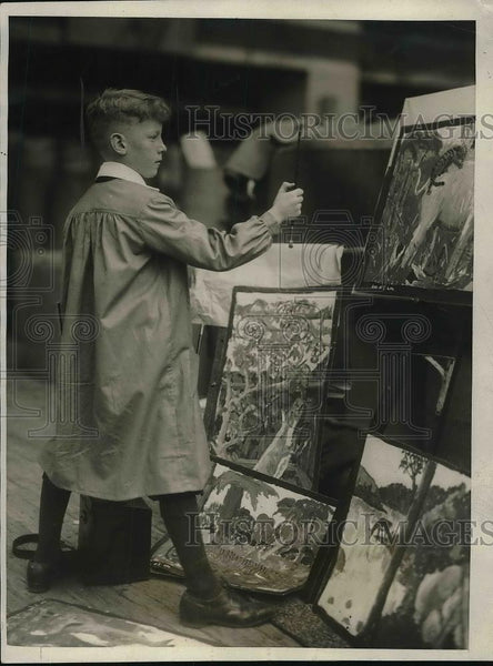 1924 Press Photo Duncan Campbell won 2 gold medals in school drawing contest - Historic Images
