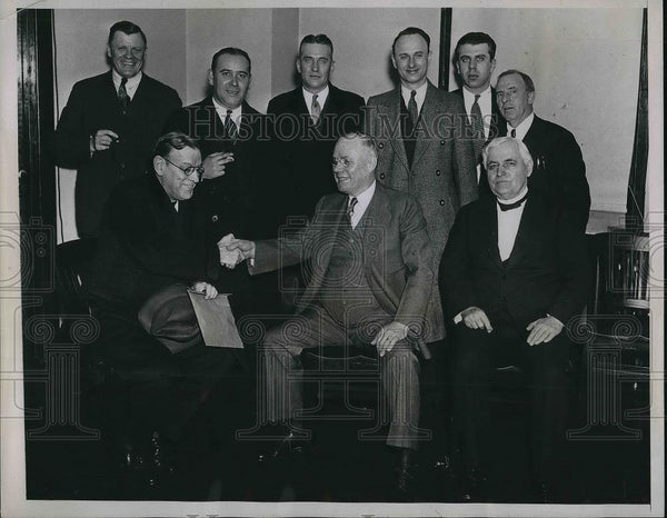 1934 Press Photo AFL leaders of Ohio meeting in Washington - Historic Images