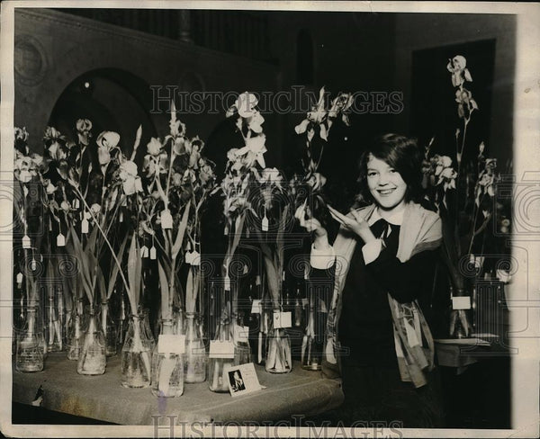 1927 Press Photo Miss Helene Nelson Washington D.C National Capital Iris show - Historic Images