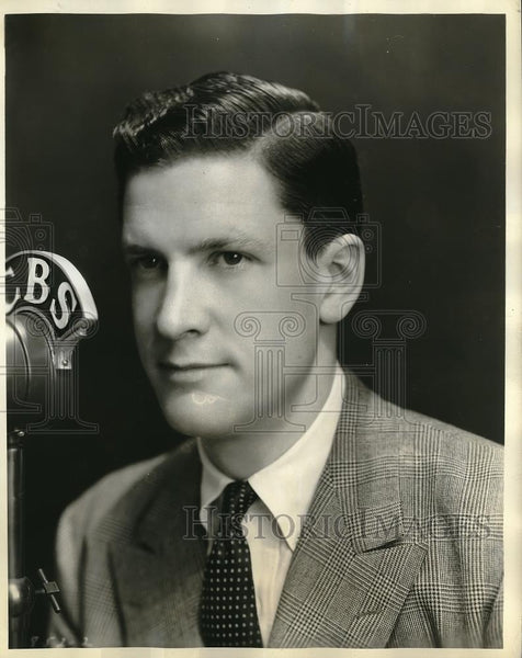 1936 Press Photo CBS announcer Bill Randol - Historic Images
