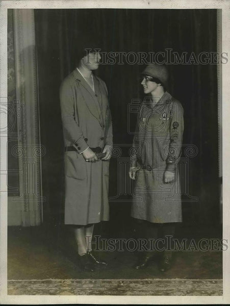 1927 Press Photo Mrs Giles Whiting of Girl Scout Convention - Historic Images